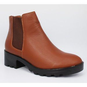 Bella Marie Pull On Western Slip On Ankle Boot